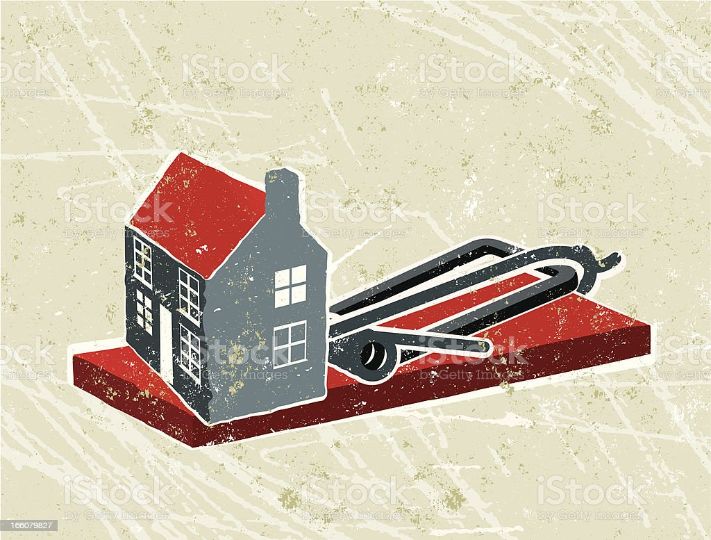 House and mousetrap royalty-free stock vector art