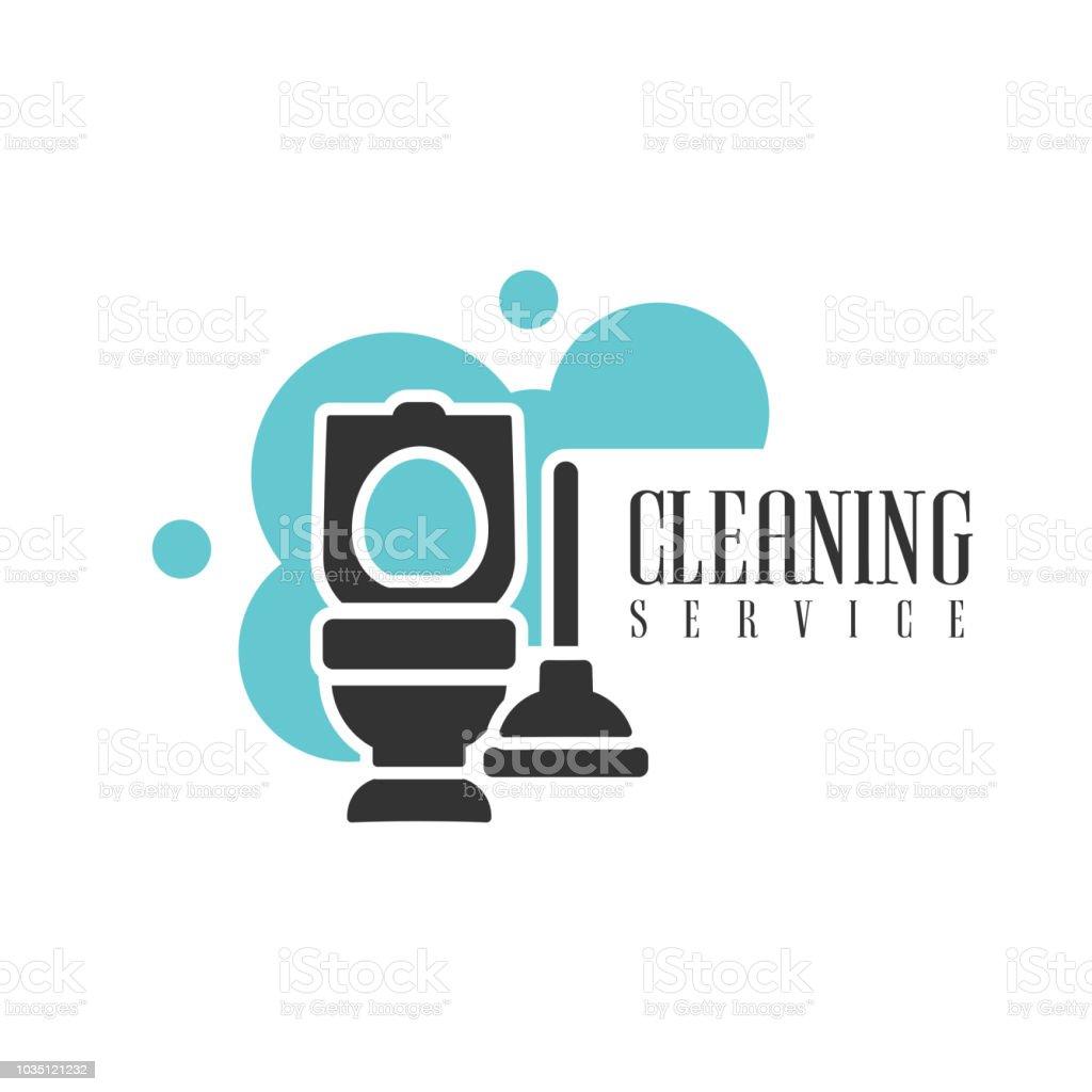Haus Und Büro Reinigung Service Verleih Logo Vorlage Mit Wc Und ...