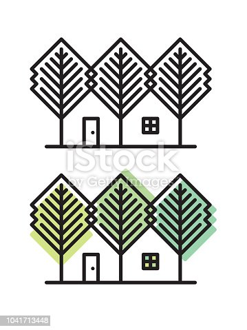 istock House and trees 1041713448