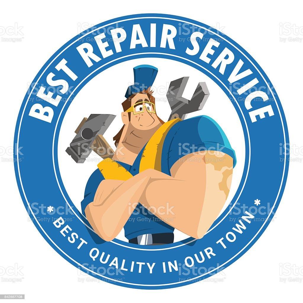 House Auto Car Repair Service Tool Shop Store Logo Design