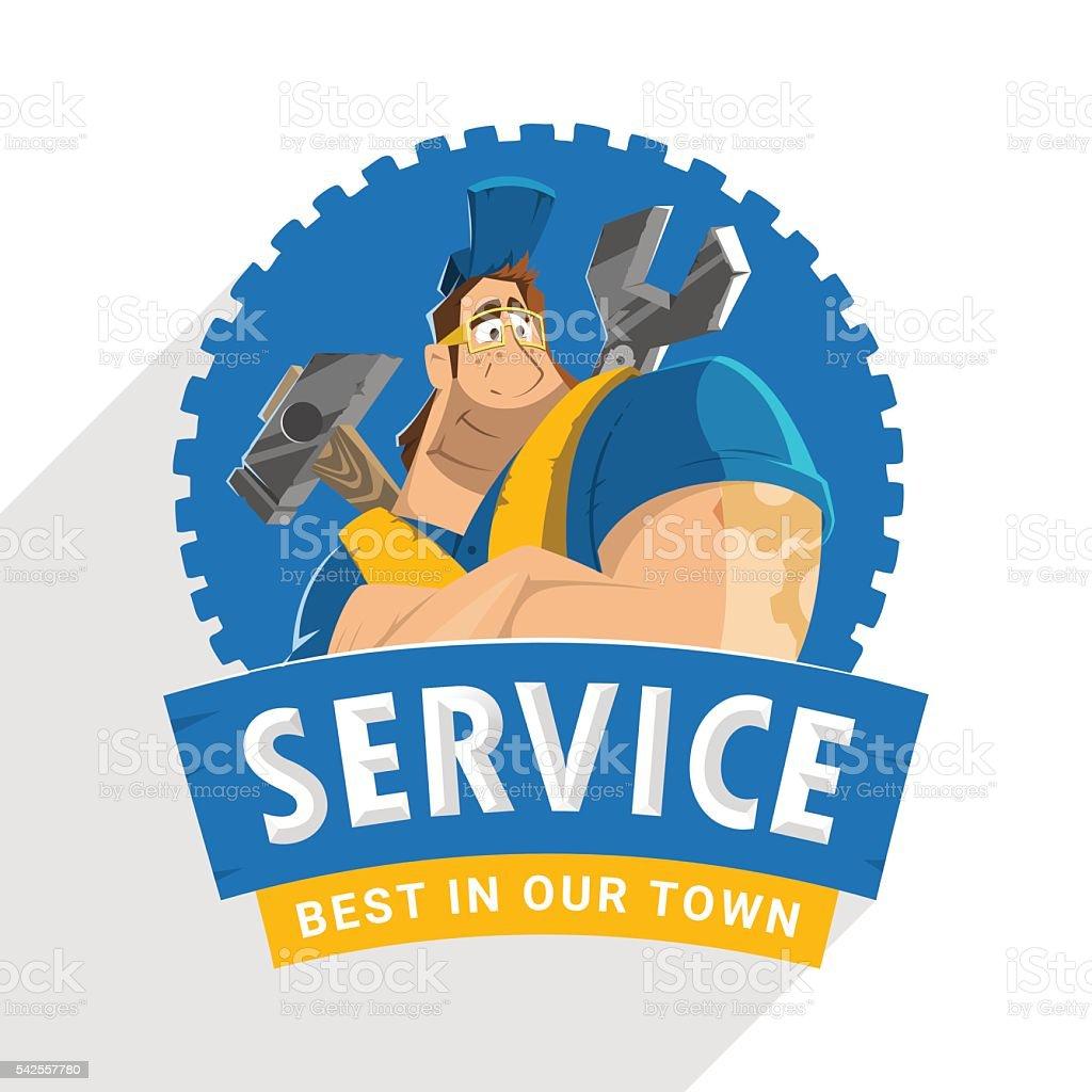 House Auto Car Repair Service Tool Shop Store Logo Design stock ...