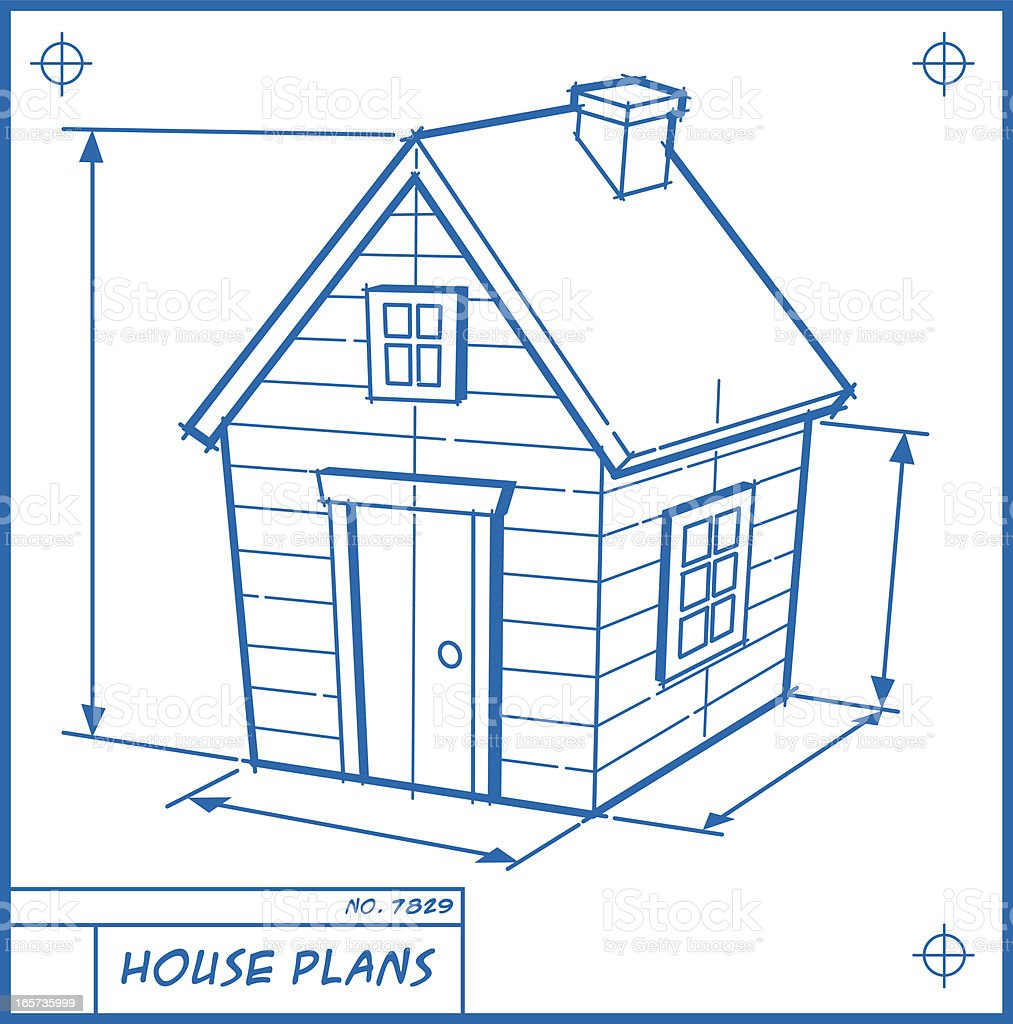 House blueprint cartoon stock vector art more images of for Building plans images