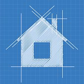 House blueprint logo