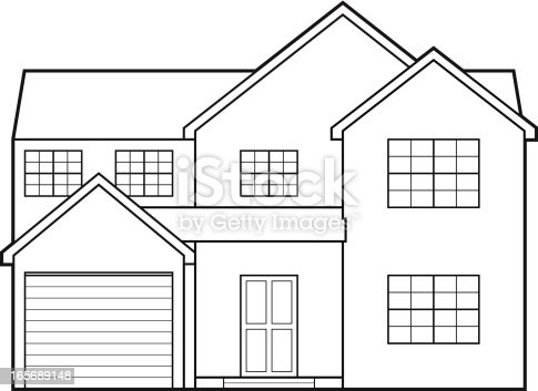 House blueprint stock vector art more images of architecture house blueprint stock vector art more images of architecture 165689148 istock malvernweather Images