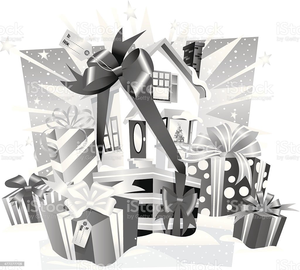 House Bow Presents royalty-free house bow presents stock vector art & more images of 2011