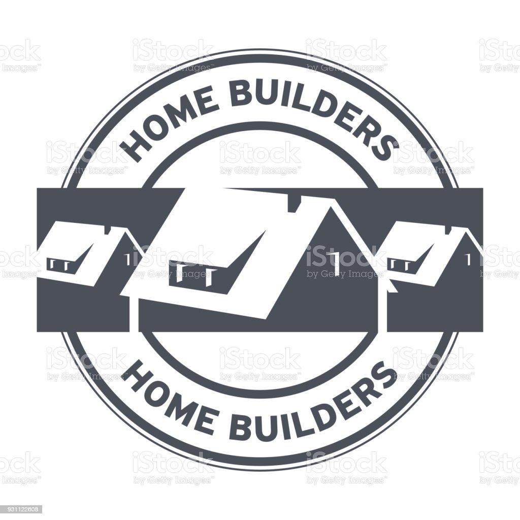 Ev inşaatçılar damgası veya işareti - Royalty-free Apartman Vector Art