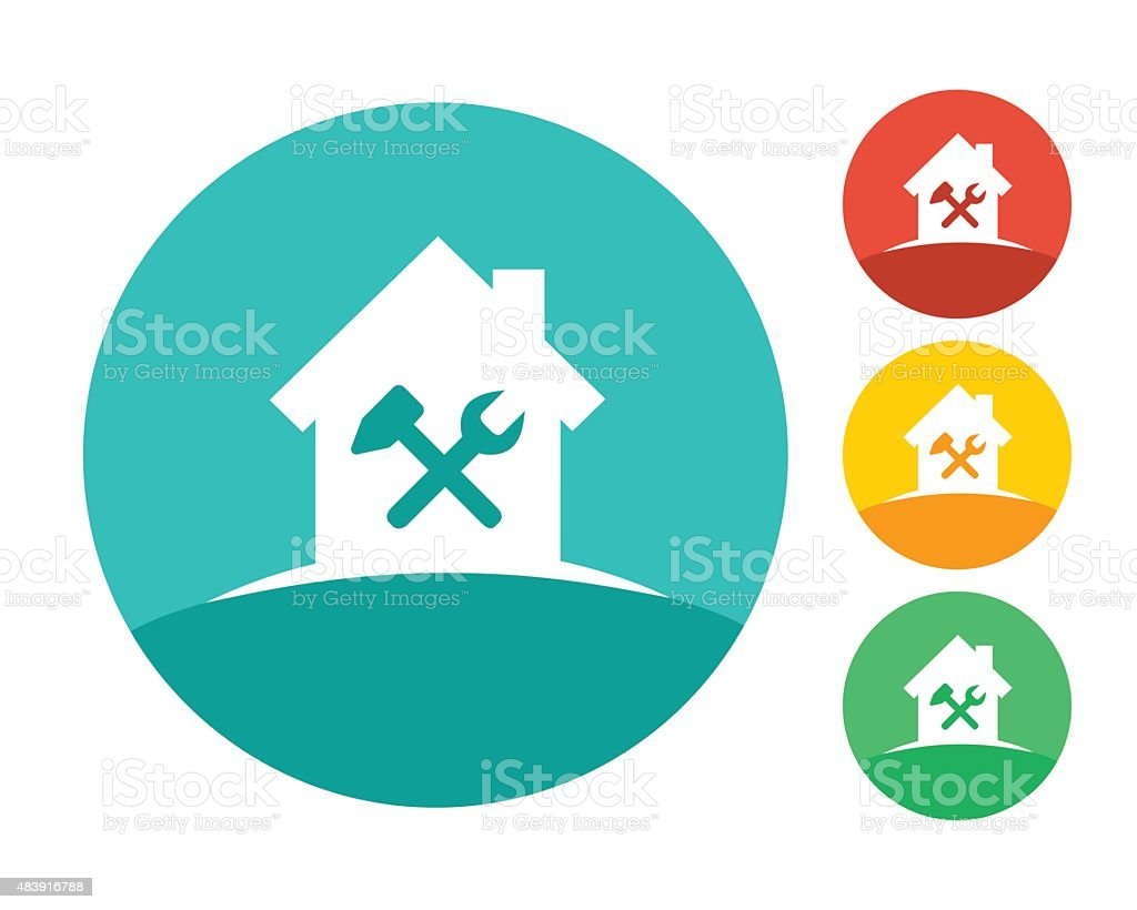 House building and repair concept vector art illustration