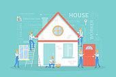 House building illustration.