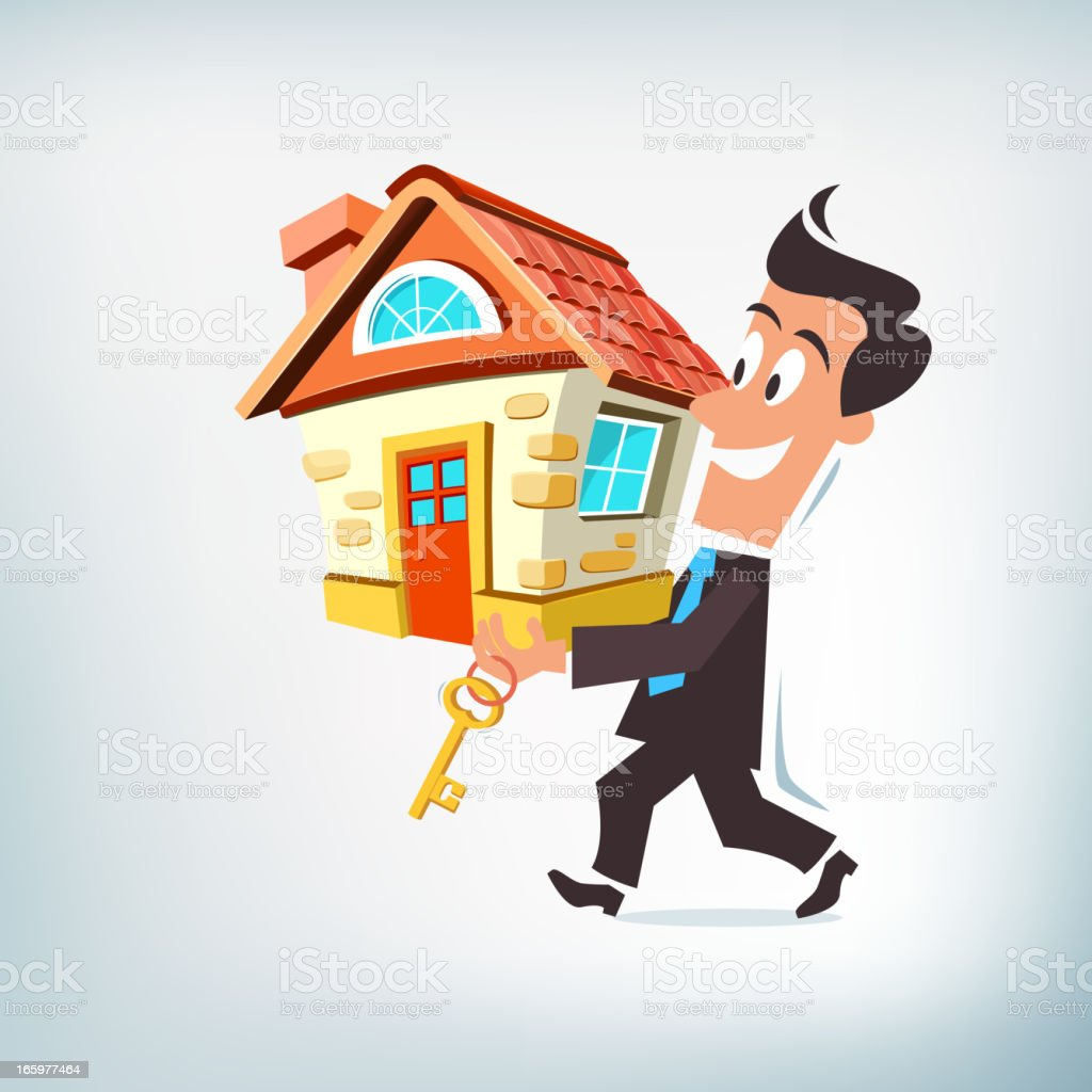 House Buying Concept vector art illustration