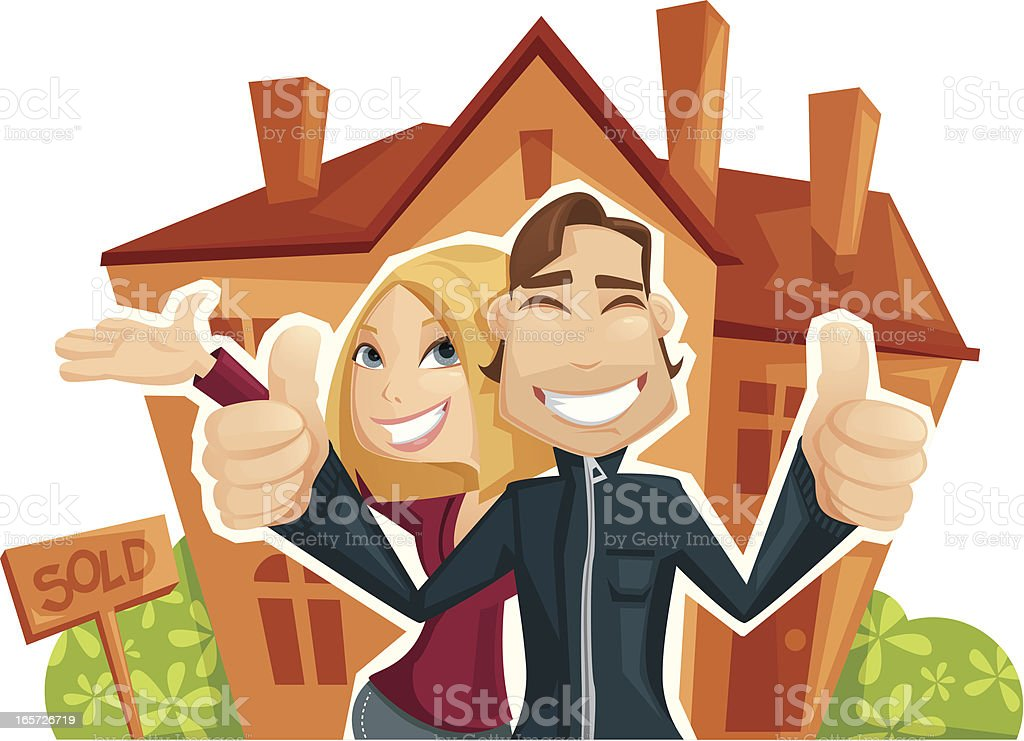 House Buying vector art illustration