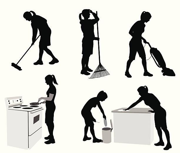 housechores - vakuumverpackung stock-grafiken, -clipart, -cartoons und -symbole