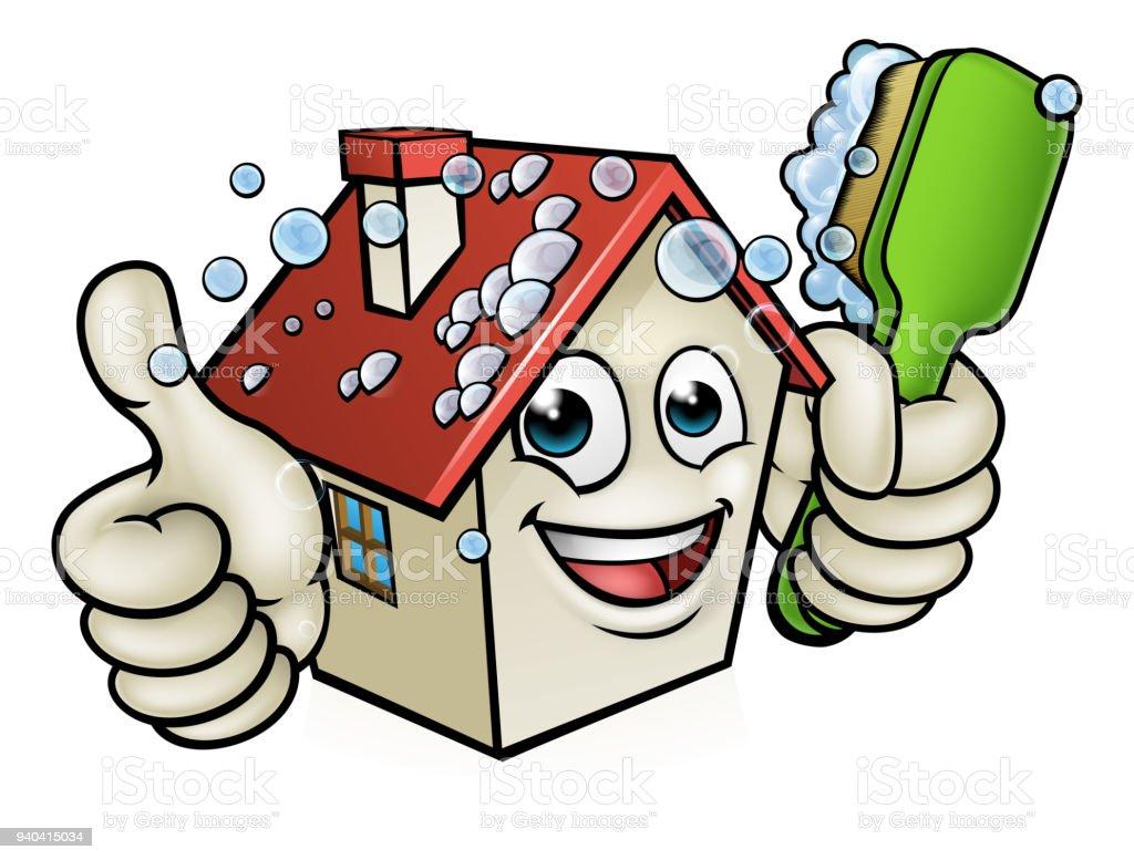 Ilustraci n de personaje de dibujos animados de limpieza - Imagenes de limpieza de casas ...