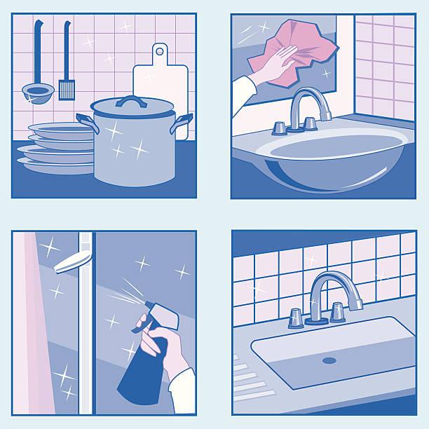 하우스 세척 아이콘 - work from home stock illustrations