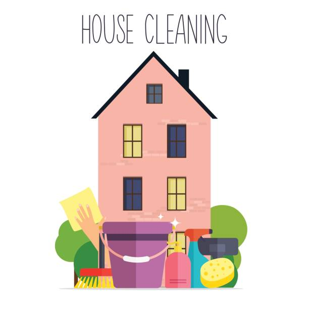 Royalty free house cleaning clip art vector images for House cleaning stock photos