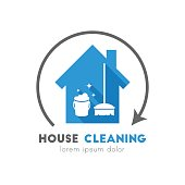 House cleaning service concept