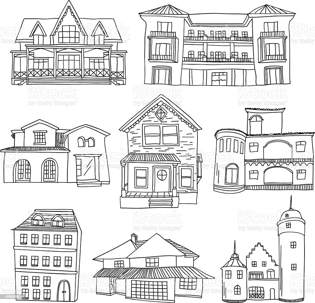 House Collection vector art illustration