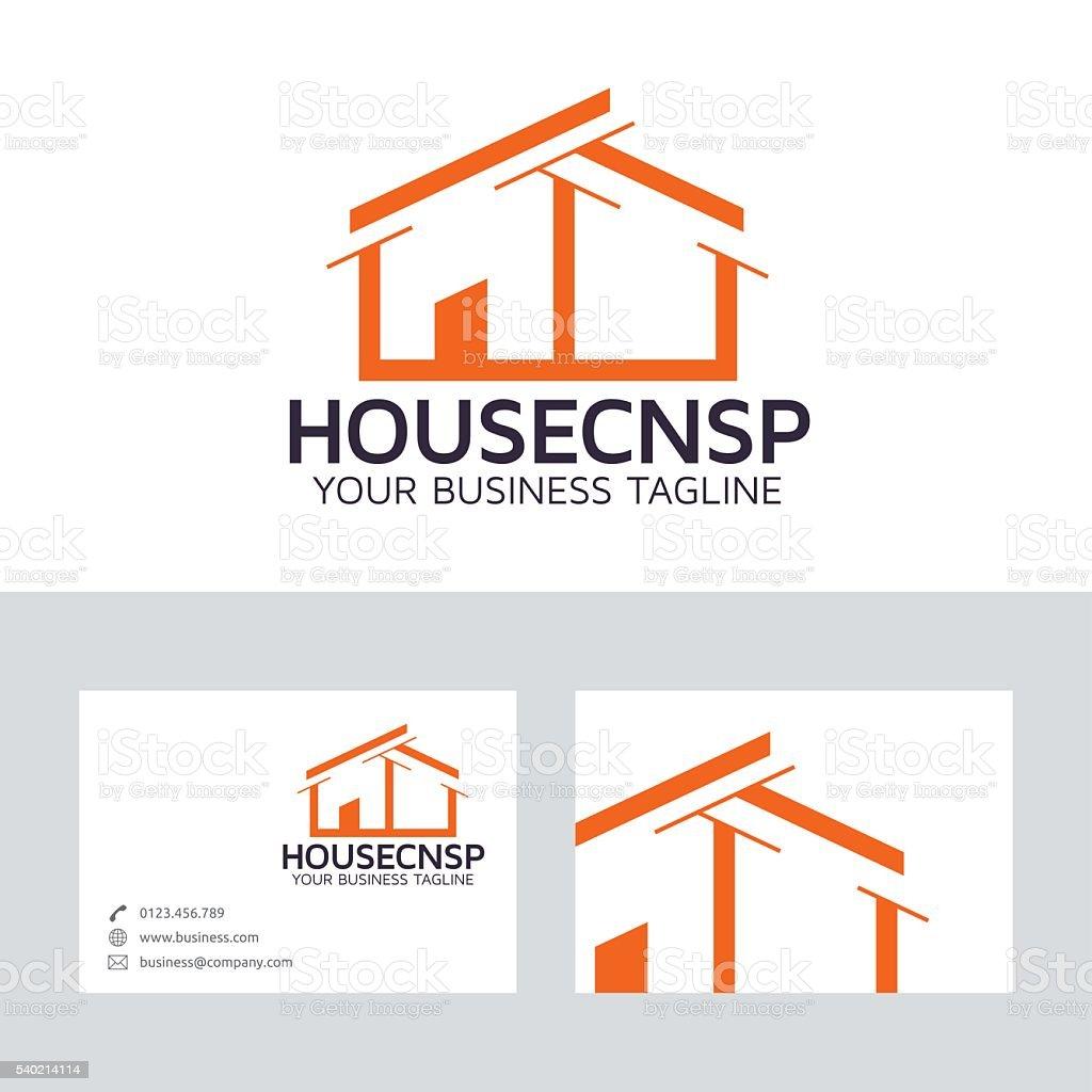 Casa Concepto Vector De Logotipo Con La Plantilla De Tarjeta De ...