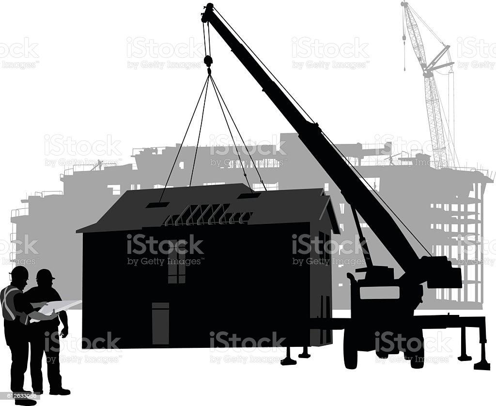 House Construction Clip Art : Royalty free prefabricated construction clip art vector images