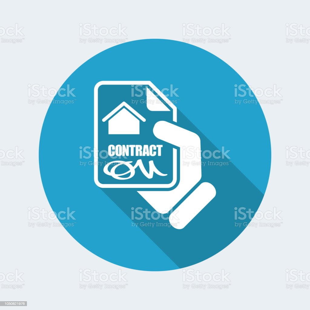 House contract icon - illustrazione arte vettoriale