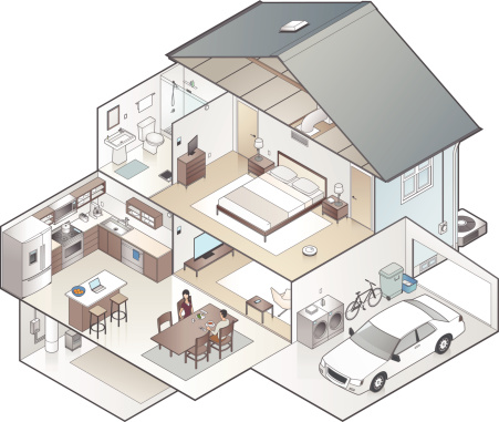 House Cutaway Illustration