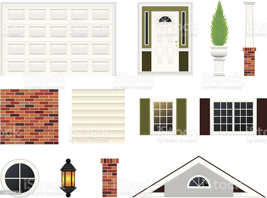 House Details Kit royalty-free house details kit stock vector art & more images of architectural feature