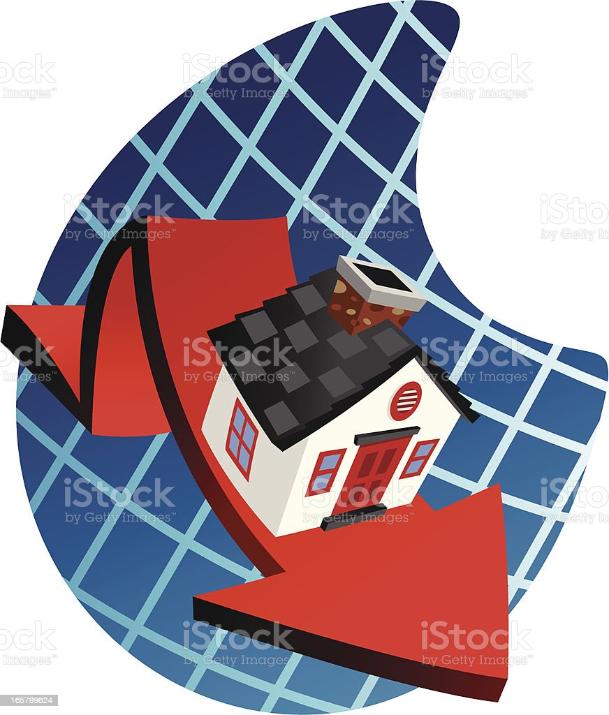 House Drop Chart vector art illustration