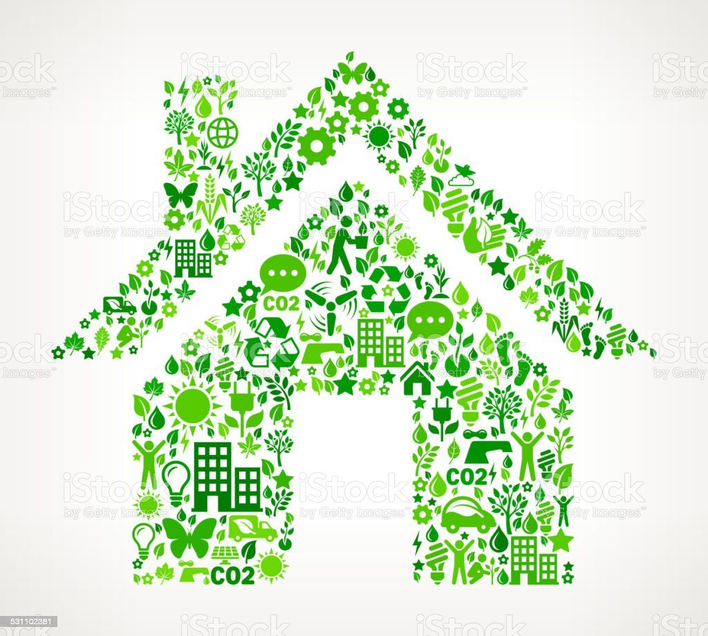 House Environmental Conservation and Nature royalty free vector art Pattern royalty-free house environmental conservation and nature royalty free vector art pattern stock vector art & more images of 2015