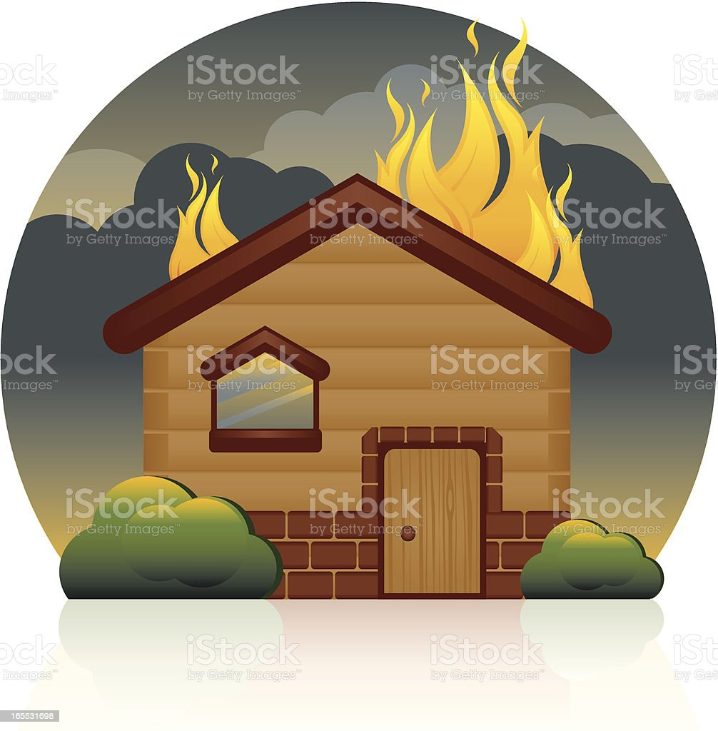 royalty free house on fire clip art vector images illustrations rh istockphoto com firehouse clipart free Smoke Clip Art