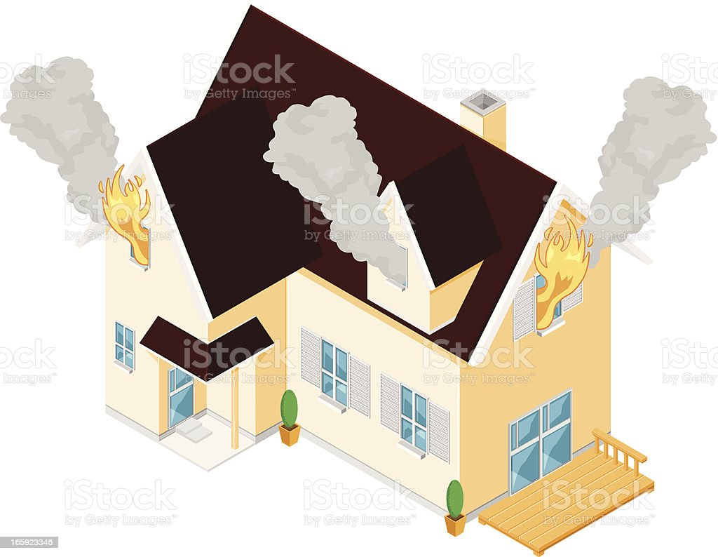 House Fire royalty-free stock vector art