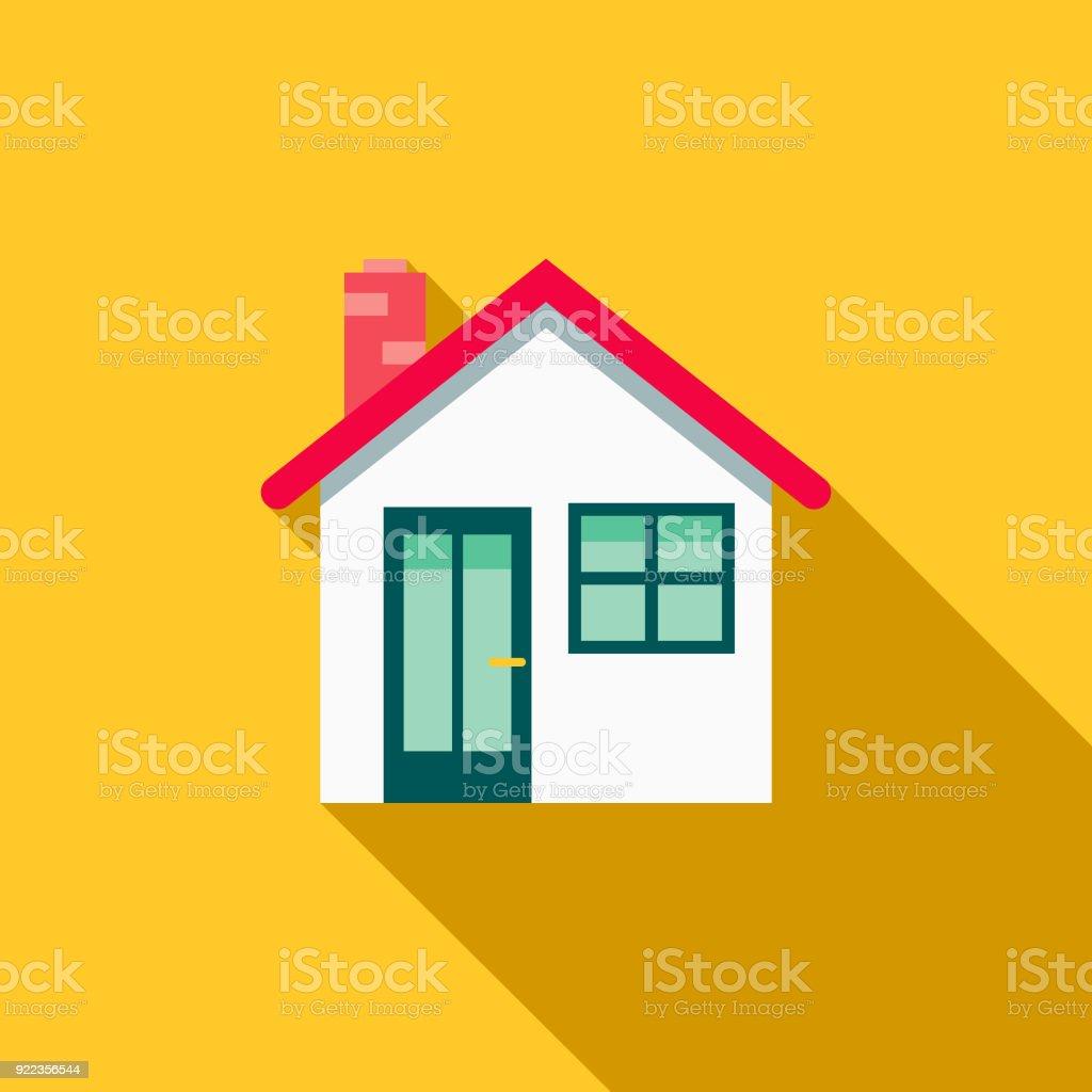 House Flat Design Home Improvement Icon Stock Illustration ...