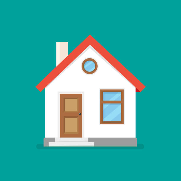 house flat icon. vector illustration - house stock illustrations