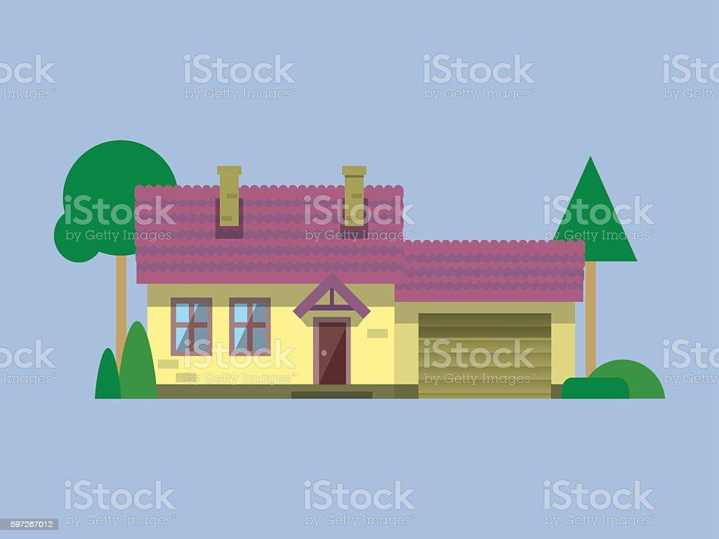 house flat Lizenzfreies house flat stock vektor art und mehr bilder von architektur