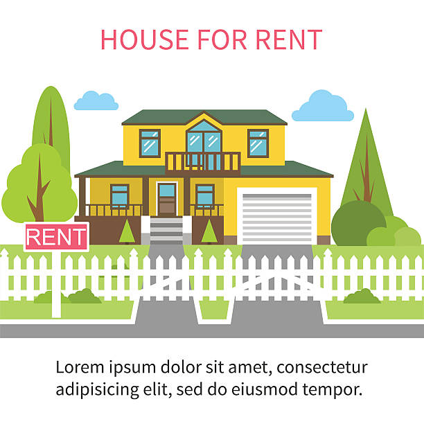House For Rent Clip Art: Royalty Free For Rent Clip Art, Vector Images