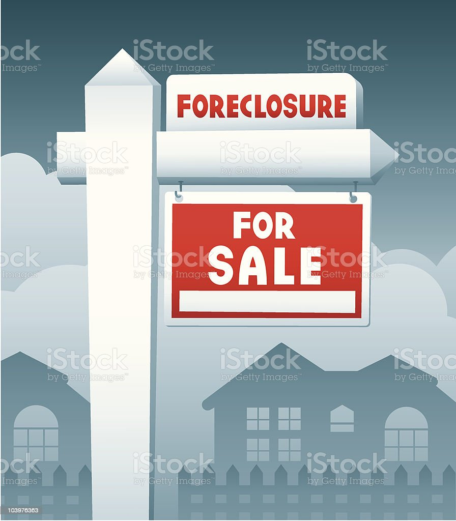 House For Sale and Foreclosure royalty-free stock vector art