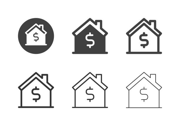 House for Sale Icons - Multi Series vector art illustration