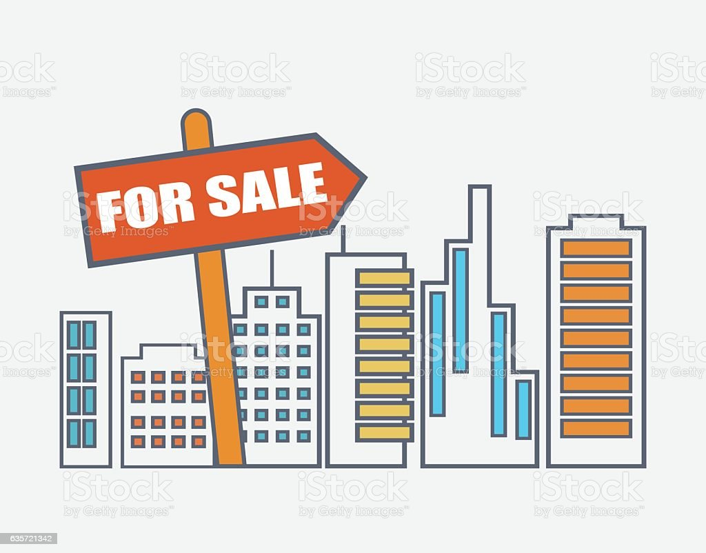 House For Sale. Real Estate Market Analysis Concept Royalty Free Stock  Vector Art