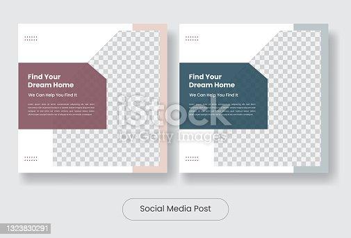 House for sale social media post template banner set