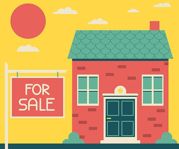 ハウスの販売 ベクターアートイラスト