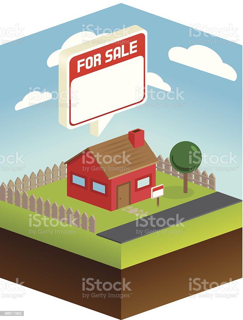 House for sale - Royaltyfri Arkitektur vektorgrafik