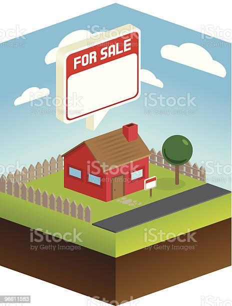 House For Sale-vektorgrafik och fler bilder på Arkitektur
