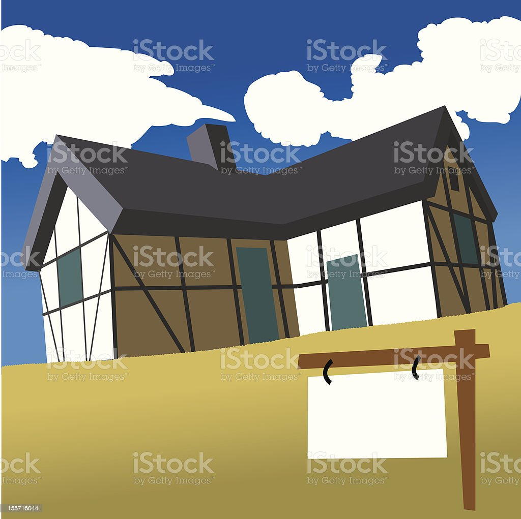 House for sell royalty-free stock vector art