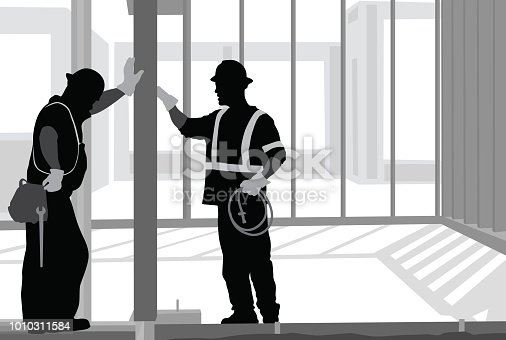 Construction workers on the job