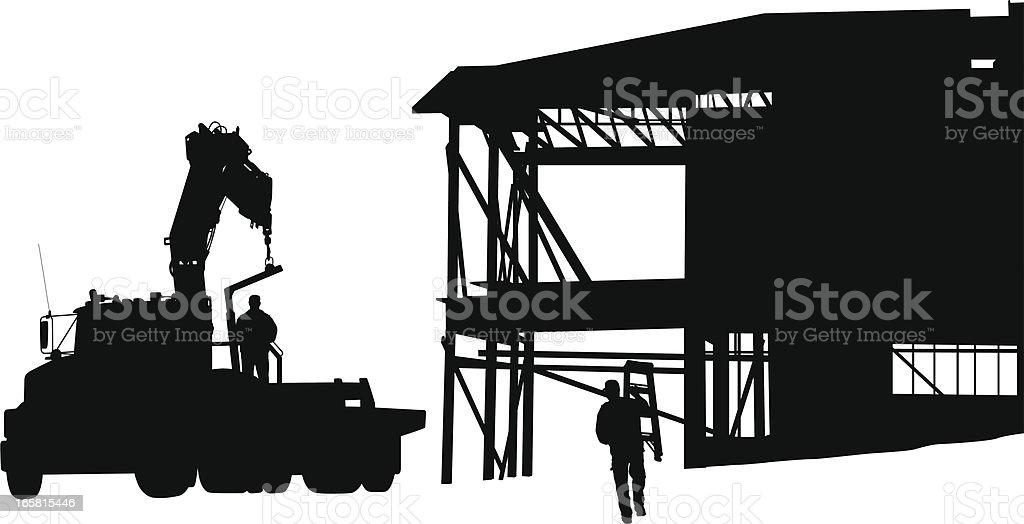 House Framing Vector Silhouette royalty-free stock vector art