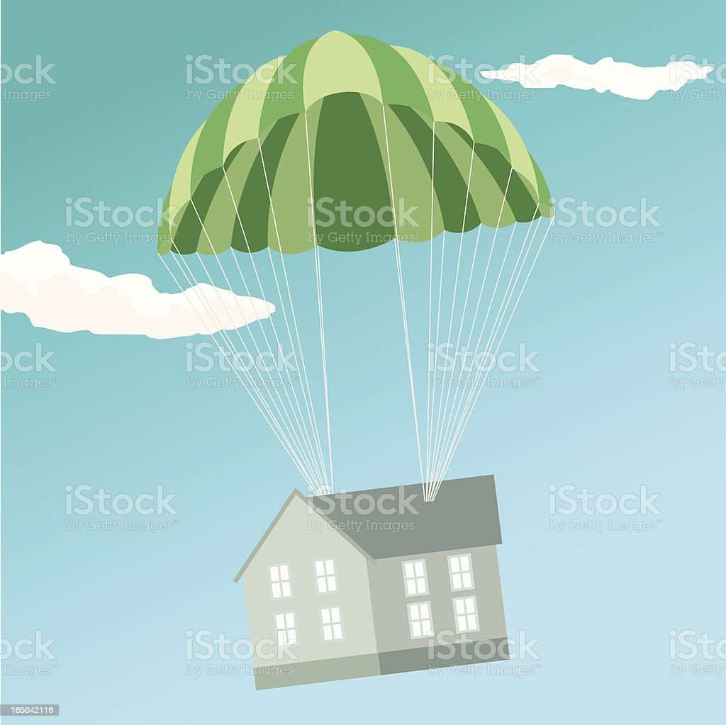 House from the heavens royalty-free stock vector art