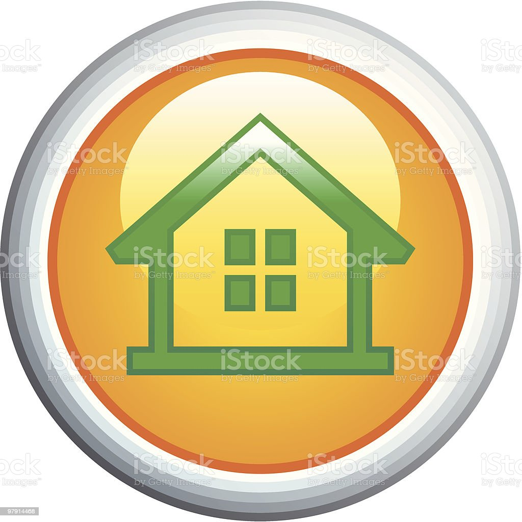 House Glossy Vector Icon royalty-free house glossy vector icon stock vector art & more images of architecture