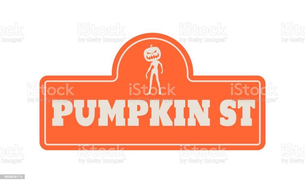 Placa de halloween casa - ilustración de arte vectorial