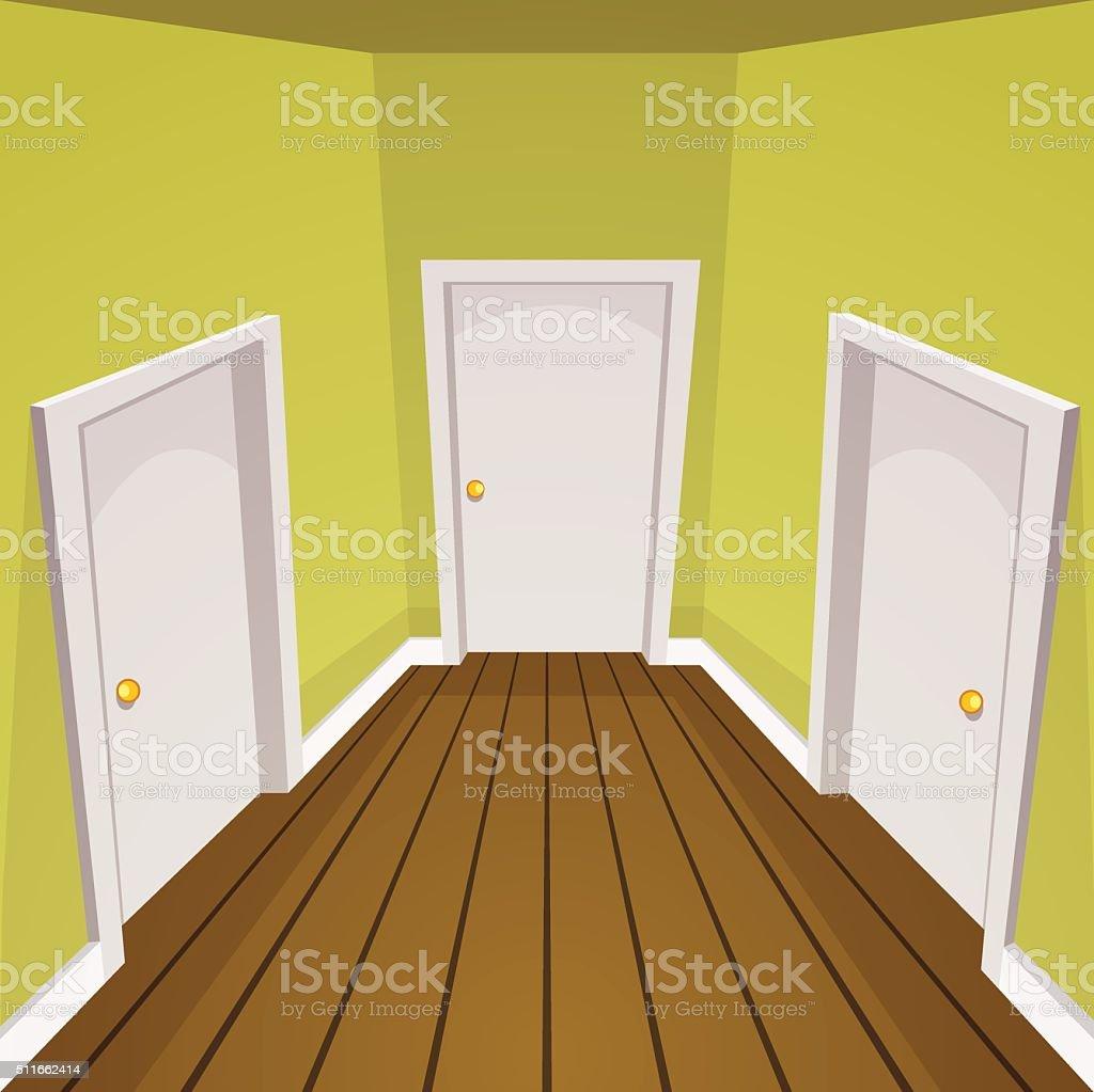 House Hallway stock vector art 511662414 | iStock