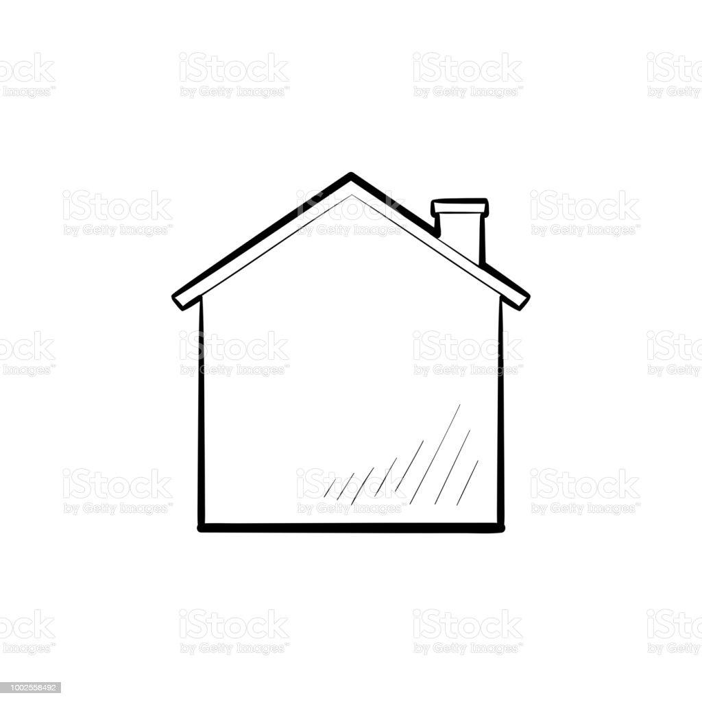 Haus Hand Gezeichneten Umriss Doodle Symbol Stock Vektor Art