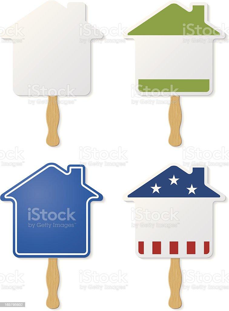 House Hand Fans vector art illustration