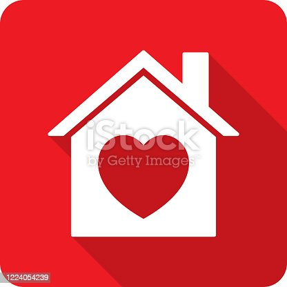 istock House Heart Icon Silhouette 1224054239